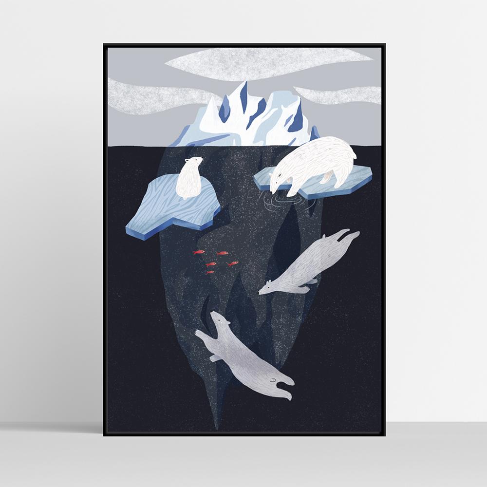 Góra lodowa i misie