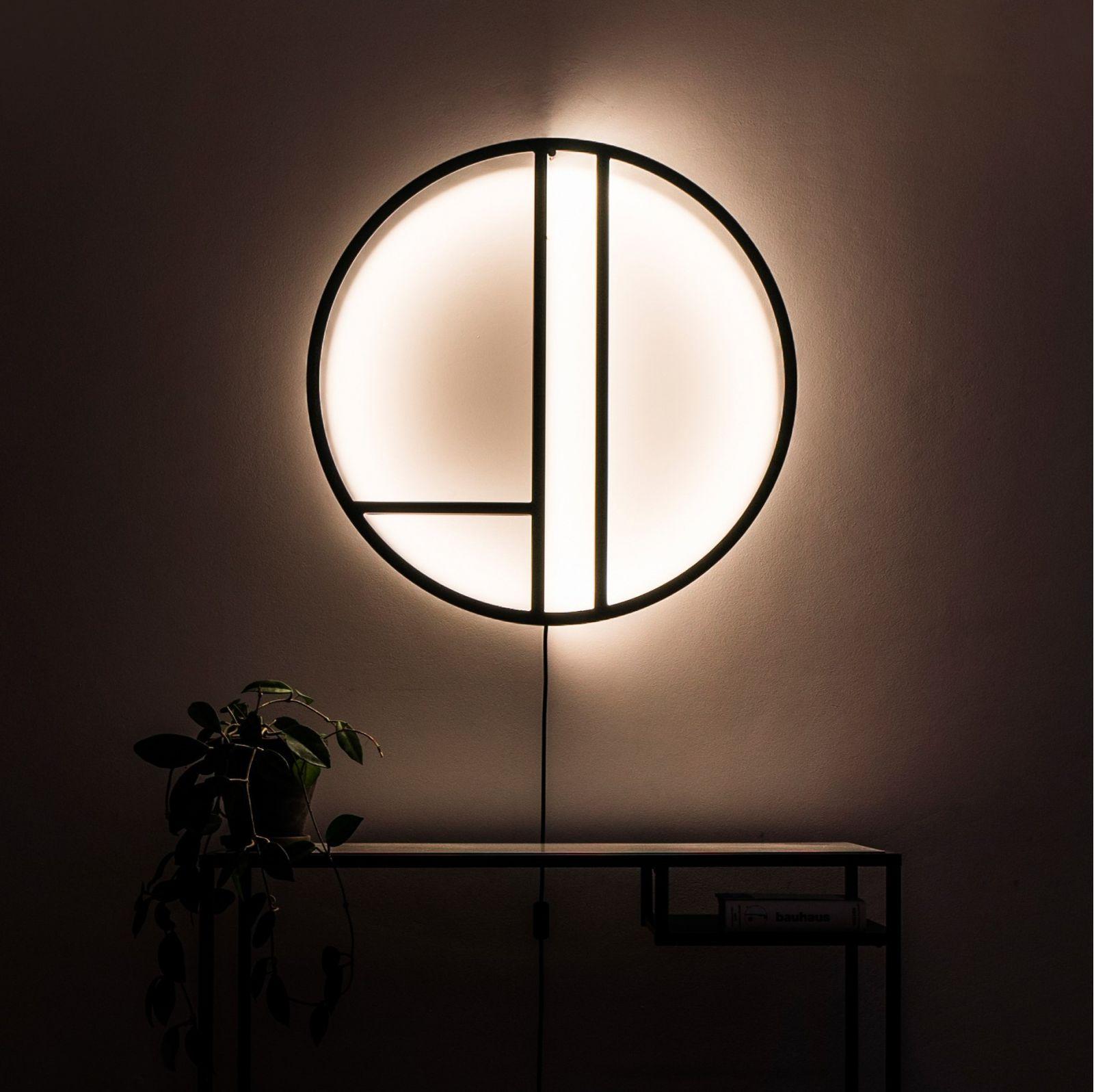 Lampa ścienna Linie- Thła w kolorze brązowym