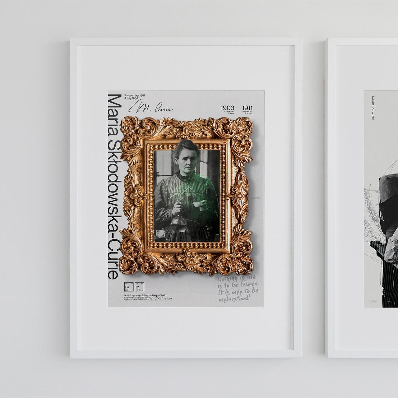 Plakat  Maria Skłodowska-Curie Set