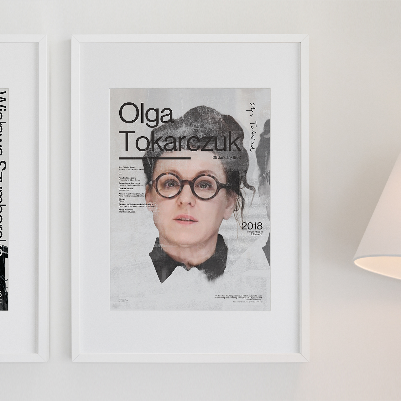 Plakat Olga Tokarczuk Ser