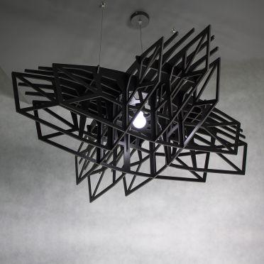 Duża czarna lampa wisząca nowoczesna Czarna Gwiazda