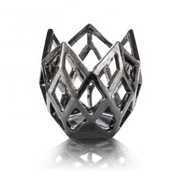 lampion srebrny geometryczny
