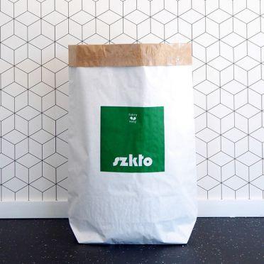 Papierowy worek wielorazowego użytku do segregacji śmieci