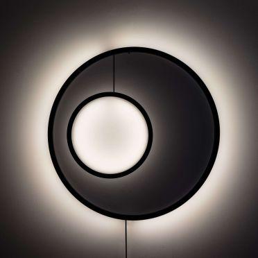 Lampa ścienna Dwa-Thła w kolorze brązowym