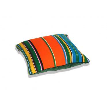Poamrańczowa poduszka folk, pasiak łowicki