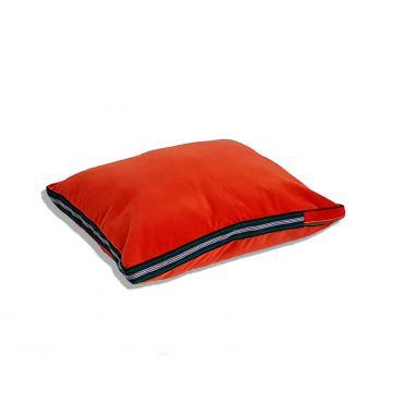 Czerwona, aksamitna poduszka folk glamour