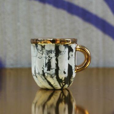 Kieliszek Cream złoty