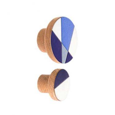 Emaliowane gałki meblowe MODERNA Blue - DOT Manufacture