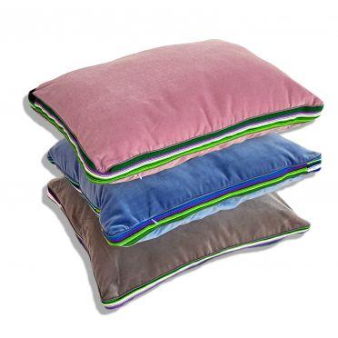 Niebieskie poduszki folk glamour
