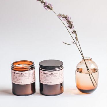 NATURALNA ŚWIECA SOJOWA - ST-RAPHAEL 14:41 lavender & rose geranium I 180ml