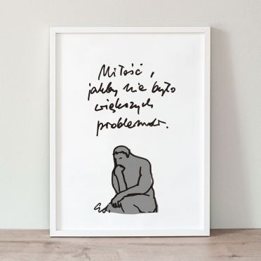 Plakat Miłość, jakby nie było większych problemów